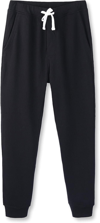 HETHCODE Mens Popular standard Classic Fit Basic List price Fleece Pocketed Jo Closed-Bottom