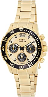 Invicta Women's 25747 Pro Diver Quartz Chronograph Gold Dial Watch
