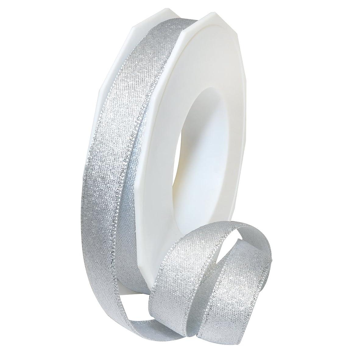 Morex Ribbon 67915/20-601 Glitter Satin Polyester Ribbon, 5/8
