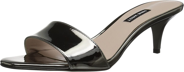 Nine West Womens Lynton Synthetic Heeled Sandal