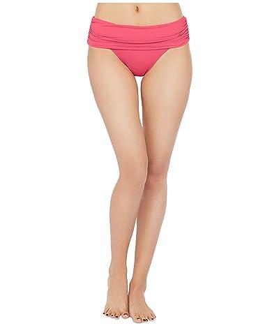 LAUREN Ralph Lauren Beach Club Solids Wide Shirred Banded Hipster Bottom (Blossom) Women