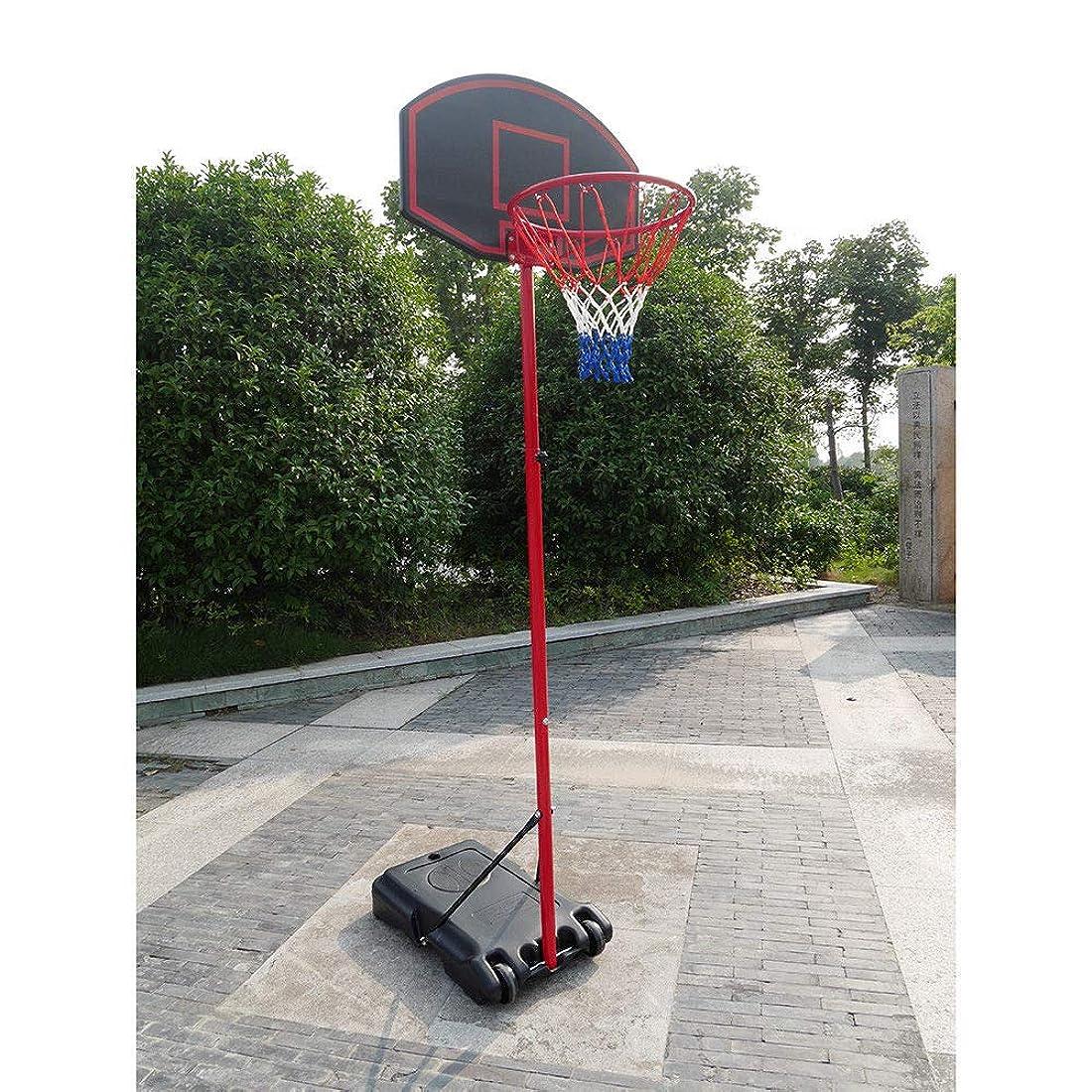 入る創始者弾薬Alek.Shop アウトドアスポーツ 練習 プレイ バスケットボール 調節可能なフープシステム スタンドホイール 子供 屋内 屋外 ネットゴール