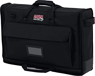 "Gator Cases Padded Nylon Dual Carry Tote Bag for Transporting (2) LCD Screens, Monitors and TVs Between 19"" - 24"" (G-LCD-TOTE-SMX2) 19-24"" Screens 19-24"" Screens Black"