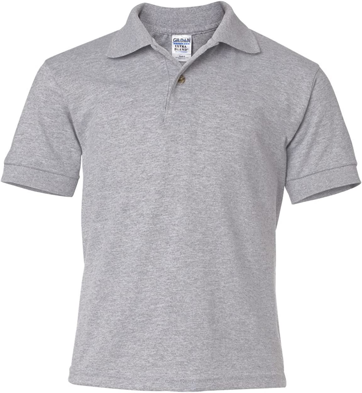 6 oz, 50/50 Jersey Polo (G880B) Grey, XL (Pack of 12)