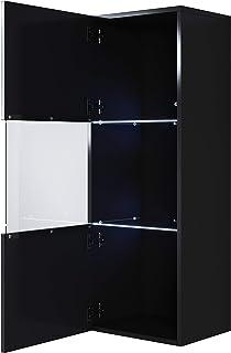 muebles bonitos Armario Colgante Modelo Luke V3 (40x126cm) Color Negro