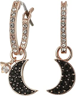 Duo Moon Hoop Pierced Earrings