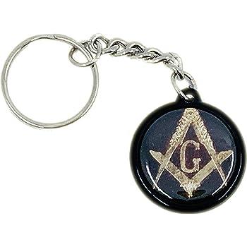 MALALPHA Porte Cl/é 02 /équerre et Compas Franc-ma/çonnerie Franc-ma/çon Freemason