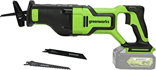 Sponsored Ad – Greenworks 24 V Battery Reciprocating Saw GD24RS (Li-Ion 24 V Variable Stroke Rate Control Up to 2700 Strok...