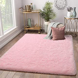 Terrug Soft Kids Room Rug, Pink Shag Area Rugs for...