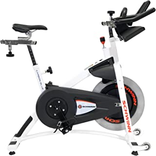 StairMaster Schwinn A.C. Sport Indoor Bike with Carbon Blue Belt Drive and Morse Taper - White