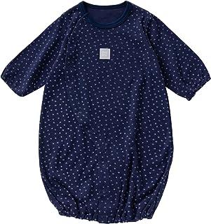 cremé de coco リトルスター ツーウェイオール [股スナップ付け替え/2way] 新生児 スムース素材 綿100% 日本製 50-70cm (ネイビー)