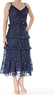 Michael Kors Printed Jacquard Ruffled Dress