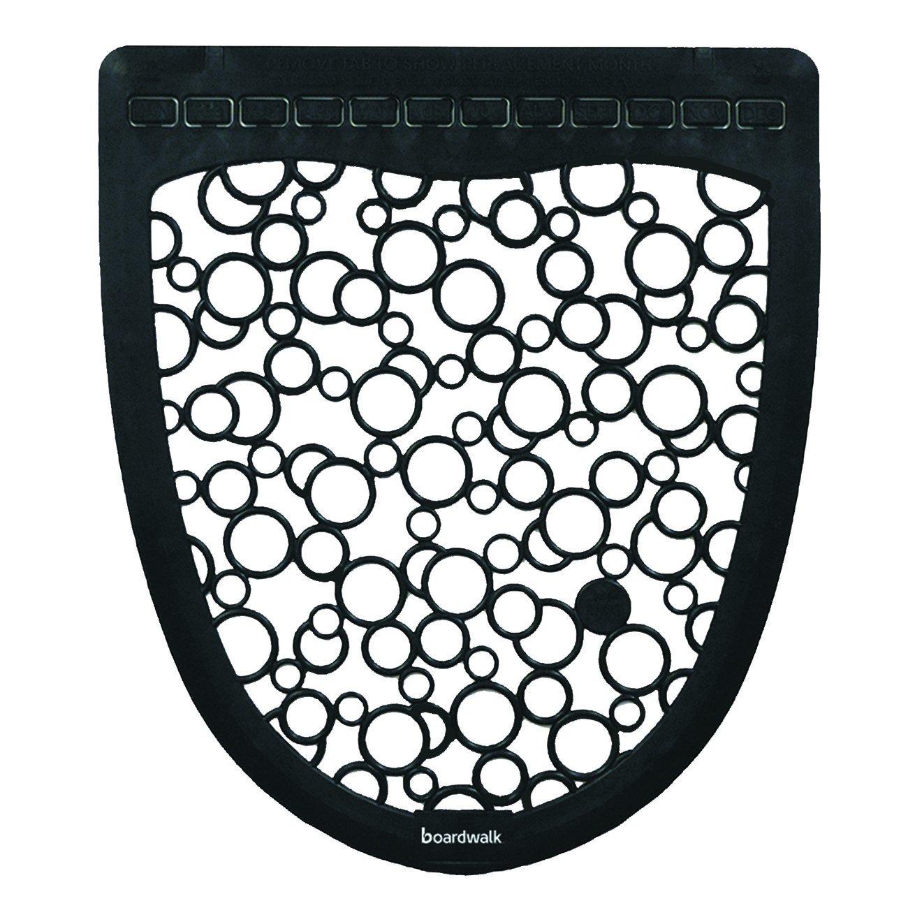 Boardwalk UMBW Urinal Mat Super sale 2.0 Rubber 17 20 C White SEAL limited product 6 x 1 Black