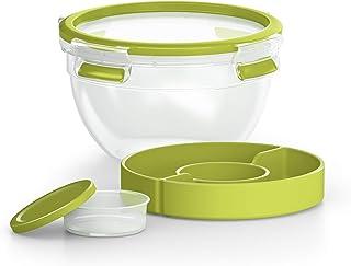 Emsa Salatbox mit 2 praktischen Einsätzen und Deckel, Salad