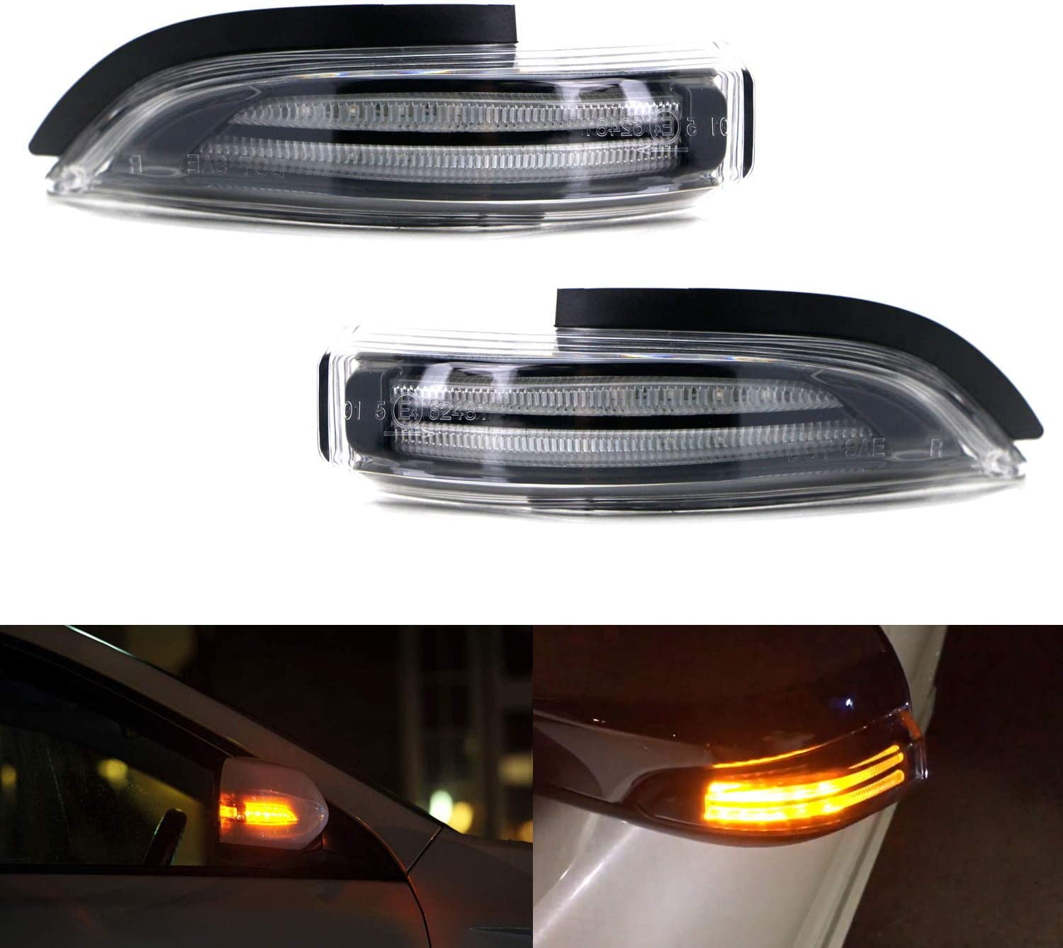 iJDMTOY JDM Clear Lens Amber Sequential Side Tu Mirror Flash Max 78% OFF Arlington Mall LED