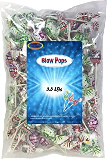 Charms Blow Pops 3.5 Lbs Assorted Individually Wrapped With a Bubble Gum Center