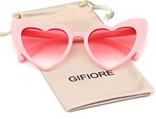 Clout Goggle Heart Sunglasses Vintage Cat Eye Mod Style...