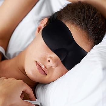 Mascherina per Dormire 2 pezzi Adatto per Viaggi//Sonno//Riposo Blu and Nero EFULL 3D Maschera Occhi Mascherina Notte Con Tappi per le Orecchie