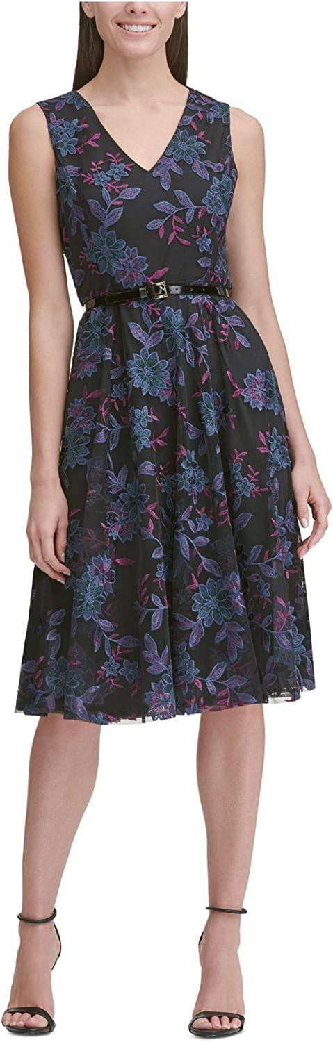 Tommy Hilfiger Women's Fit Low price and Midi Memphis Mall Flare Dress