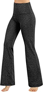 Power Flex Boot-Cut Yoga Pants Tummy Control Workout Non See-Through Bootleg Yoga Pants