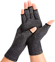 Rheumatoid Arthritis Gloves - Compression for Osteoarthritis, Rsi, Fingless Gloves for Typing, Cooking, Daily Works