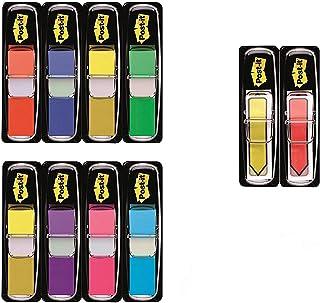 Post-it - BP138 - Marque-page étroit - 12 x 44 mm - Lot de 8 x 35 + 2 x 24 Marque-page flèche gratuit