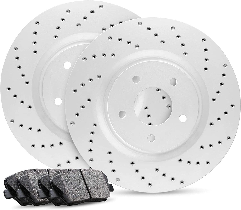 Rear Kit Japan Maker New Premier Series Brake latest Cross-Drilled Rotors Ceramic