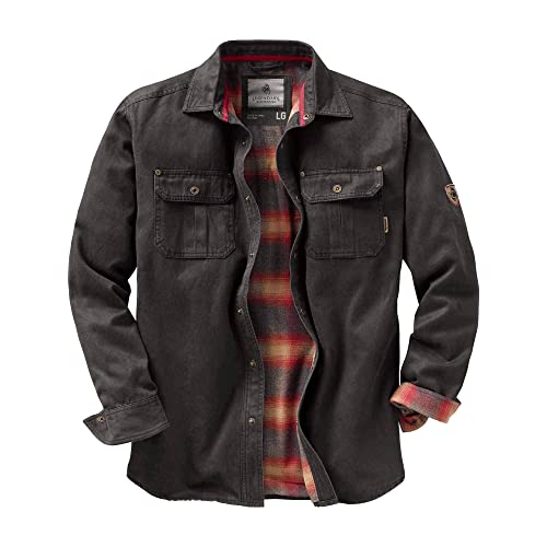 0dc089eec902 Legendary Whitetails Men s Journeyman Flannel Lined Rugged Shirt Jacket