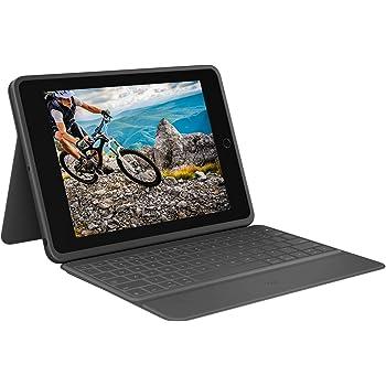 ロジクール iPad 10.2 インチ 対応 第8世代 第7世代 キーボード iK1054BKA グラファイト RUGGED FOLIO 薄型 スマートコネクター対応 キーボード一体型 ケース 国内正規品 2年間メーカー保証
