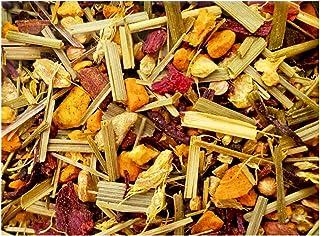 Turmeric Lemon Ginger Herbal Tea with 9 Ayurvedic Herbs   Includes Lemon Grass   Ayurvedic  100% Handcrafte...