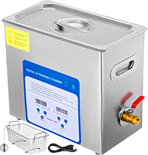 VEVOR 6L Professional Ultrasonic Cleaner 304&316 Stainless Steel Digital Lab Ultrasonic Cleaner with Heater Timer for Jewe...