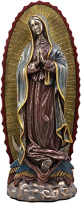 Ebros Large Blessed Virgin Our Lady of Guadalupe Statue in Faux Bronze 15.25