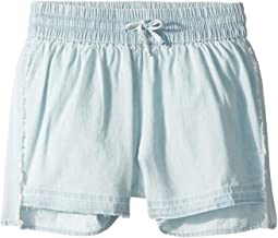 Alice Chambray Shorts with Drawstring Closure in Bleach (Little Kids/Big Kids)