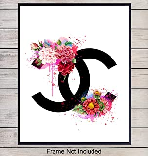 Chanel Logo Home Decor Art Print - Wall Art Poster - Unique Room Decorations for Bedroom, Bathroom, Dorm, Girls or Teens Room - Gift for Fashion Design, Fashionista, Coco Fans, 8x10 Photo Unframed