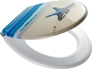 RIDDER 02109100 Abattant de WC, Bleu/Beige/Blanc, 44,9 x 35,8 x 5,9 cm