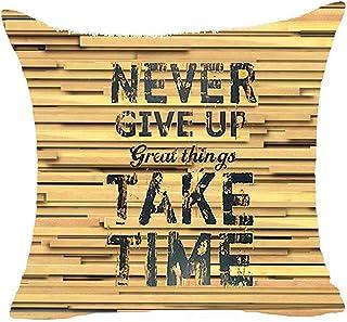 Leisure-Time Nunca renuncies a Las Grandes Cosas, Toma Tiempo Funda de Almohada de Piezas