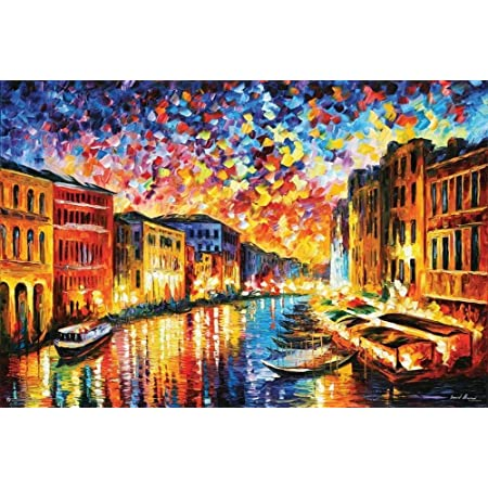 E Leonid Afremov - Venice Grand Canal Poster by Leonid Afremov 36 x 24in