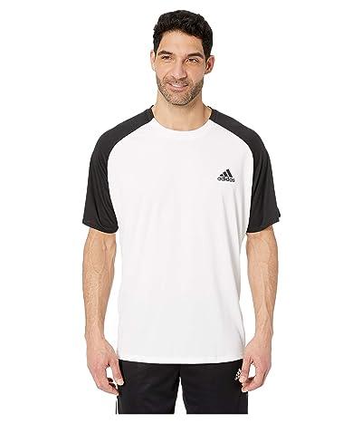 adidas Club Colorblock Tee (White/Black) Men