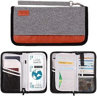 RFID Blocking Passport Wallet Documents Organizer Holder Zipper Case, Grey (Grey) - Fn40019-01-JT0136-PassPortRFID-Gray