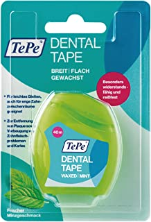TePe Dental Tape / Die gewachste Zahnseide mit Minzgeschmack für eine effektive Mundpflege, 1x 40 m inklusive kompaktem Spender