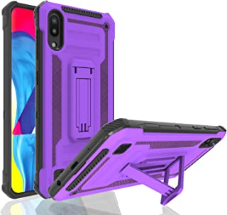 Ayoo for:Galaxy M10 Case,Galaxy M10 Phone Case,[Holder Kickstand] Full Bodystocking Dual Layer Shock-Absorption Case for Galaxy M10-JW Purple