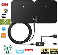 1byone 4K Double Panel HDTV Antenna, Indoor/Outdoor Amplified Digital TV Antenna..
