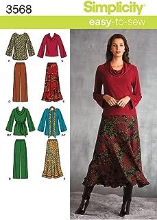 Patrones De Costura Para Pijamas Y Batas Simplicity 5314 Aa Tallas Grandes