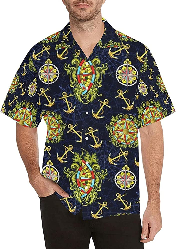 Guide Axis Men's Short Now on sale Sleeve Hawaiian Ranking TOP15 Down Button Shirt Casual