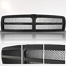 Make Auto Parts Manufacturing Honeycomb Grille With Emblem Provision Plastic Textured Black For Dodge Ram 1500 1994-1998, For Dodge Ram 2500 1994-1998, For Dodge Ram 3500 1994-1998 - CH1200188