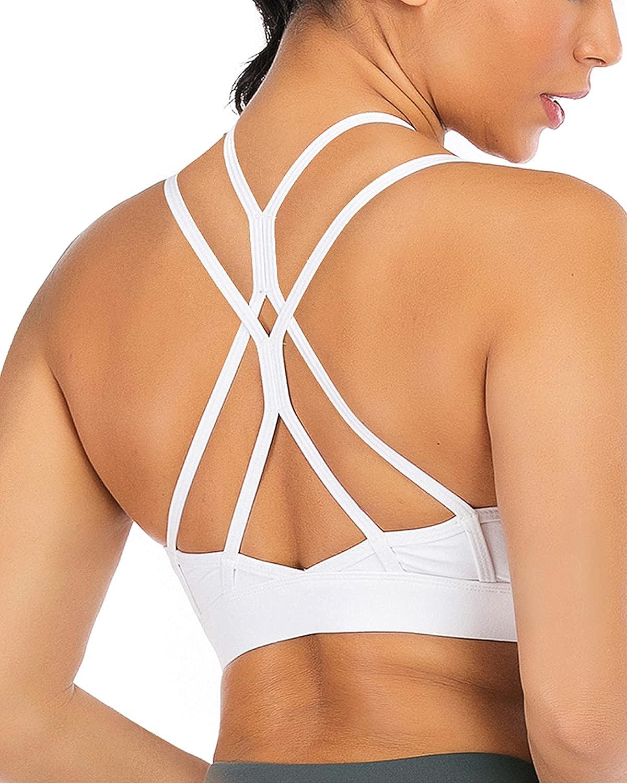 Snailify Women Sports Bra High Cross Yoga Sales results No. 1 Criss Racerback Max 54% OFF Impact