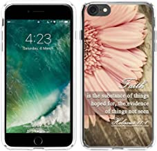 6S Case Christian,Hungo Soft TPU Silicone Cover Case Compatible with iPhone 6/6S Bible Verse Sayings Faith is The Substance of Things Hoped for The Evidence of Things Not Seen Hebrews 11:1