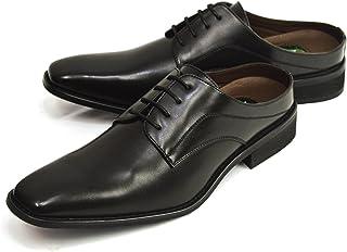 [ジーノ] ビジネス サンダル ビジネスシューズ メンズ 足ムレ防止 スリッポン サボサンダル クールビズ 低反発 脚長 靴 紳士靴