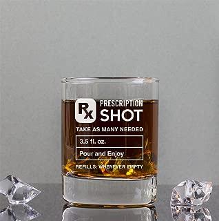 Prescription 3.5 oz Shot Glasses, Funny Gift Idea, Gift for Him, Gift for Her, Gift for Brother