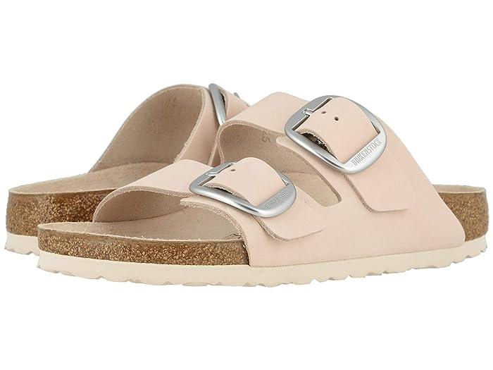 Birkenstock  Arizona Big Buckle (Light Rose Nubuck) Womens  Shoes